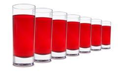 Um vidro do suco da cereja Fotografia de Stock