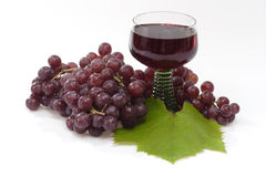 Um vidro do vinho vermelho Fotografia de Stock Royalty Free