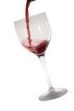Um vidro do vinho vermelho Fotografia de Stock