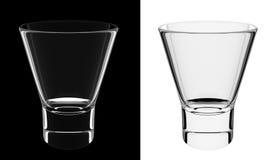Um vidro mais curto vazio isolado ilustração stock