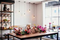Um vitrine de um florista foto de stock