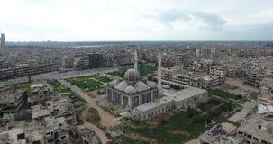Um voo do zangão uma mesquita em uma cidade filme