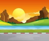 Um waterform perto da estrada ilustração royalty free
