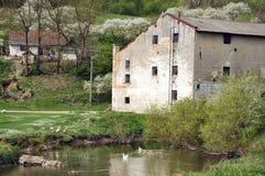 Um watermill velho Fotos de Stock Royalty Free