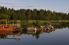 Um waterview Fotos de Stock Royalty Free
