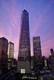 Um World Trade Center no por do sol Foto de Stock