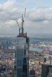 Um World Trade Center sob a construção Fotos de Stock Royalty Free