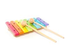 Um xylophone de madeira colorido Imagens de Stock Royalty Free