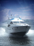 Um Yatch enorme Foto de Stock Royalty Free