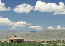 Um yurt do mongolian fotografia de stock royalty free