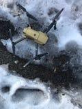 Um zangão no gelo Imagem de Stock Royalty Free