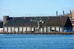 Uma área industrial Foto de Stock Royalty Free