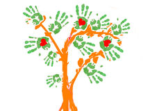 Uma árvore de Greenpeace. Foto de Stock