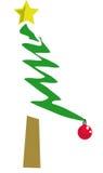 Uma árvore de Natal Imagens de Stock Royalty Free