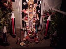 Uma ÍNDIA OCIDENTAL bonita de Dakshin Barasat BENGAL do ídolo de Saraswati imagens de stock