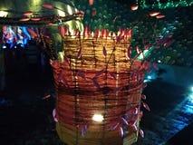 Uma ÍNDIA OCIDENTAL de Bohoru BENGAL da decoração pandal inovativa bonita fotos de stock royalty free