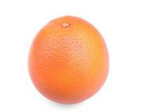 Uma única toranja brilhante em um fundo branco Citrinos exóticos e tropicais Toranja madura e crua Laranjas frescas da vitamina C imagens de stock