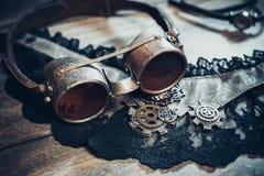 Uma ainda-vida bonita no estilo do steampunk com protetor vai Imagem de Stock