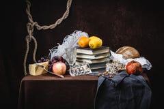 Uma ainda-vida clássica no estilo holandês Fotos de Stock Royalty Free