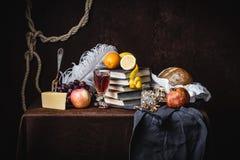 Uma ainda-vida clássica no estilo holandês Foto de Stock
