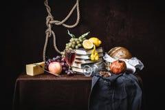 Uma ainda-vida clássica no estilo holandês Fotografia de Stock Royalty Free