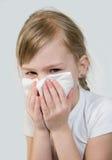 Uma alergia. foto de stock
