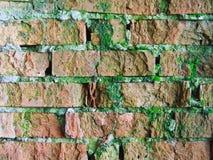 Uma alvenaria velha vermelha do tijolo Imagens de Stock