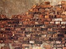 Uma alvenaria velha vermelha do tijolo Fotografia de Stock