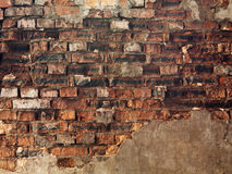Uma alvenaria velha vermelha do tijolo Imagem de Stock