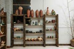 Uma amostra de Rongchang Tao do museu da cerâmica do estúdio da cerâmica de Chongqing Rongchang Fotos de Stock