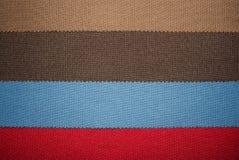 Uma amostra de texturas multi-coloridas das telas fotos de stock royalty free