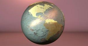 Uma animação da terra do planeta feita com texturas oxidadas em um fundo contínuo ilustração do vetor