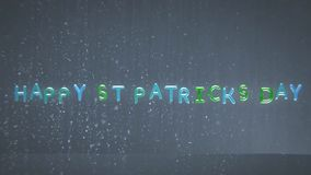 Uma animação do dia de St Patrick feliz nos balões