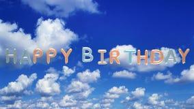 Uma animação do feliz aniversario nos balões