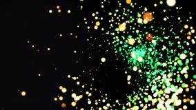 Uma animação moderna lisa dos gráficos do movimento de uma explosão, calma, implodindo então o túnel do ponto Pontos coloridos da ilustração do vetor