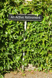 Uma aposentadoria ativa Foto de Stock