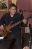 Uma apresentação estimulando do desempenho dos músicos do cocktail do grupo do PNF Imagens de Stock Royalty Free