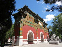 Uma arcada memorável no parque de Beihai Fotografia de Stock Royalty Free