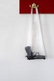 Uma arma em um saco de plástico Fotografia de Stock Royalty Free