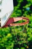 Uma aro de basquetebol fotografia de stock