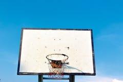 Uma aro de basquetebol velha (parte dianteira) Imagem de Stock Royalty Free