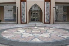 Uma arte da porta da mesquita Fotos de Stock