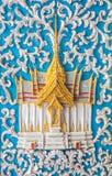 Uma arte da porta no templo Fotos de Stock Royalty Free
