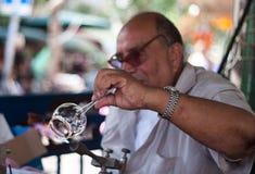 Uma arte do ventilador de vidro Fotografia de Stock Royalty Free
