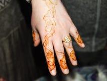 Uma arte oriental da hena Imagem de Stock Royalty Free