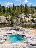 Mola quente e rio imagens de stock