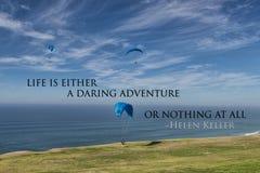 Uma aventura audaz ou nada Imagens de Stock Royalty Free
