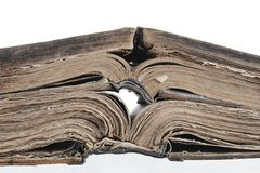 Uma Bíblia aberta. Imagens de Stock Royalty Free