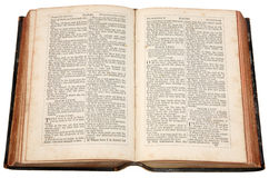 Uma Bíblia velha. Foto de Stock Royalty Free