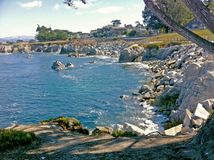 Uma baía em Monterey CA Fotografia de Stock